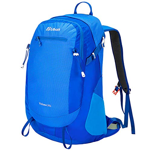 Ubon Framed Backpack Ventilated Travel Daypack Outdoor Backpacking Pack Blue