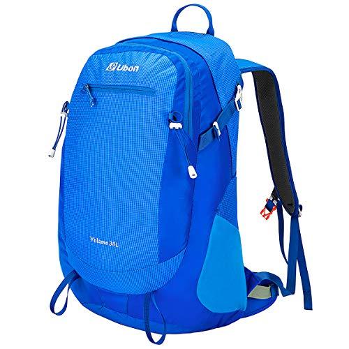 Ubon Framed Backpack Ventilated Travel Daypack Outdoor Backpacking Pack Blue