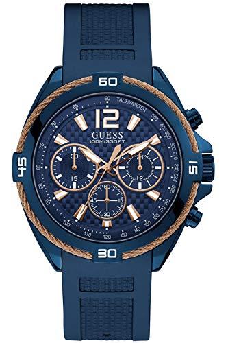 GUESS Reloj Analógico para Hombre de Cuarzo con Correa en Caucho 8431242947808