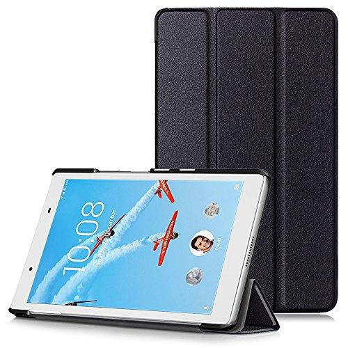 """Lenovo Tab 4 8 Cover - Custodia Ultra Sottile e Leggero con Coperture da Supporto per Lenovo Tab 4 8 (TB-8504F) Tablet da 8"""" Modello 2017, Nero"""