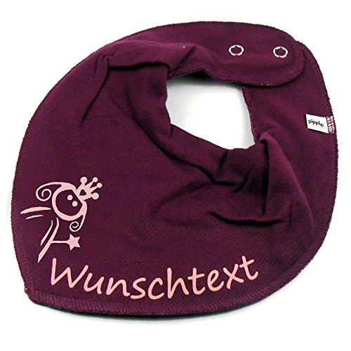 Elefantasie Halstuch Prinzessin mit Namen oder Text personalisiert Beere für Baby oder Kind