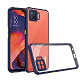 AE Mobile Accessories Back Cover for Oppo F17, Miqilin Series Tranparent Shock Proof Smooth Rubberized Matte Hard Back Cover (Blue)
