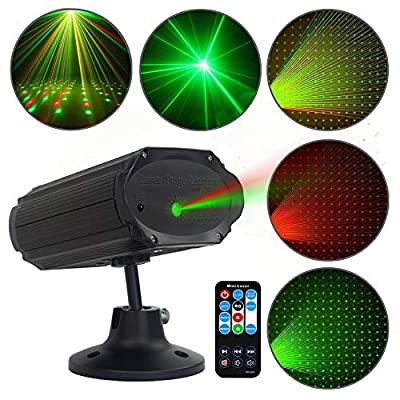 Party Lights Disco Lights GEELIGHT Sound Activated DJ Light with Remote Control Mini Stage Lights Strobe Projector for Club Home Party Ballroom Bands Wedding Show Bar Karaoke KTV