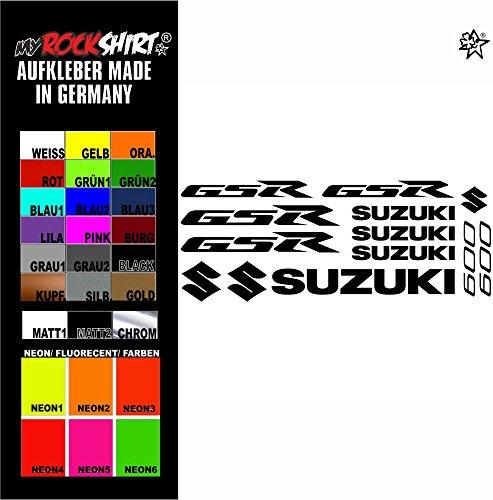 myrockshirt Aufkleber Set blau1 Suzuki GSR 600 Aufkleber Set Sticker Decal kit 4714 Motorrad Tuning Set Bike aus Hochleistungsfolie ohne Hintergrund Profi-Qualität viele Farben zur Auswahl Made