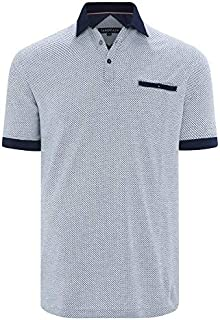 Tarocash Men's Tropez Textured Polo Long Sleeve Fit Sizes XS-5XL for Going Out Smart Casual