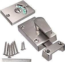ZLDCTG 38 * 13 * 35mm Latch Vacant Engaged Door Lock Toilet Shower Cubicles & Bathroom Indicator Bolt (Color : Satin Nickel)