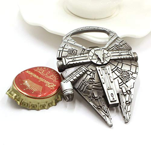 Key Chain - Bottle Opener Star Wars Millennium Falcon Stainless Steel Beer E - Planes Beer Atte Transformation First Solo Shuttle 2019 Potter Lepin Vader Order Storm Fighter Glass Minif