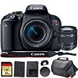 Canon EOS Rebel T7i DSLR Camera with 18-55mm Lens (USA Model) (1894C002) with 32GB Memory Card, Premium Soft Case, and More - Starter Bundle (Renewed)