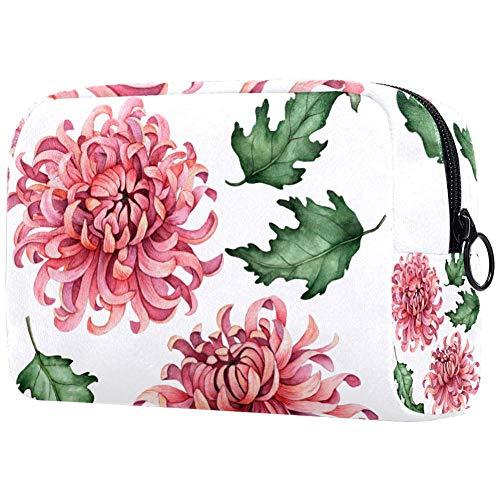 Trousse de toilette personnalisée pour femme Motif fleurs roses