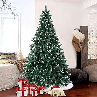Árbol de Navidad AerWo de 1,8 metros con nieve, árbol de Navidad artificial, con soporte de metal para la decoración festiva de Navidad (1000 ramitas)