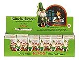 Geschenkestadl Räuchermännchen mit Bauchladen + 24 Knox Räucherkegel Verschiedene Düfte - 2