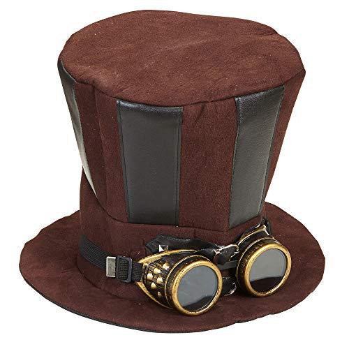 WIDMANN Cilindro Steampunk con Occhiali Cappello Party E Carnevale Giocattolo 701, Multicolore, 8003558608133