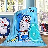 """N/A' Cartoon Blanket Doraemon Printing Throw Blankets ,55'' x 40'' Soft Cover Flannel Cozy Plush Fleece Blanket for Kids Toddler Babys (Doraemon)"