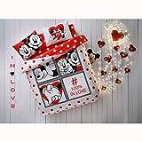 TAC Disney Mickey Minnie Dotty Love%100 - Juego de ropa de cama de algodón con...