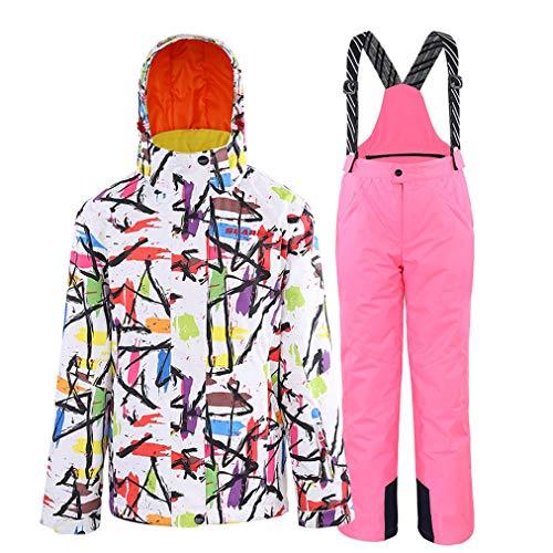 Winterjas en broek voor meisjes, skipak, waterdicht, warm, snowboard-jas, topjas, pullovers, sport in de vrije natuur.
