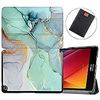 MAITTAO Slim Folio For Verizon ASUS ZenPad Z8S Case ZT582KL 2017 Release, Magentic Smart Stand Cover with Wake/Sleep for Verizon ASUS ZenPad Z8S 7.9-Inch Tablet Sleeve Bag 2 in 1, Flowers & Leafs 20