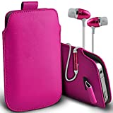 ( Hot Pink + Ear phone ) Pouch case for ALLVIEW P8 ENERGY