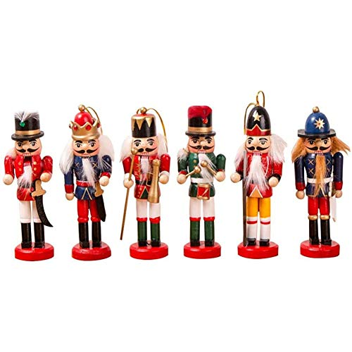 GLX 12CM Nussknacker Puppet Soldat Anhänger Sechs Stücke Zubehör Anhänger Weihnachtsbaum