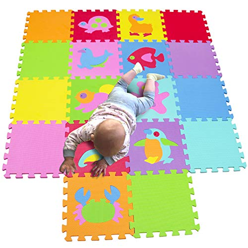 MQIAOHAM Children Puzzle mat Play mat Squares Play mat Tiles Baby mats for Floor Puzzle mat Soft Play mats Girl playmat Carpet Interlocking Foam Floor mats for Baby P019CS9G300918