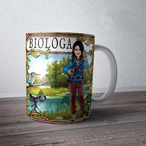 Taza de bióloga naturalista. Un regalo original y simpático para una bióloga.