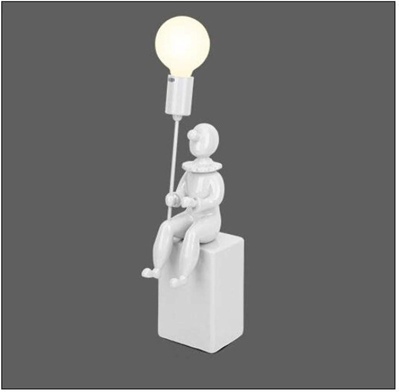 Kreative Charakter Wandleuchte Einzelkopf E27 LED Wandleuchte Schlafzimmer Wohnzimmer Eingang Dekorative Wandbeleuchtung (12  45 cm) (Farbe  Wei)