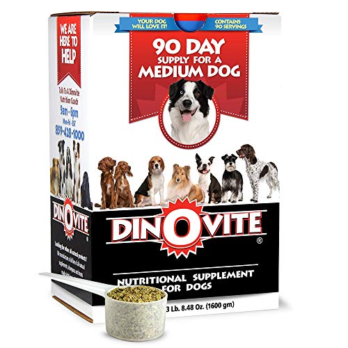 Dog Supplement - Immune + Digestive, Skin + Coat Support, Vitamins, Minerals, Omega 3, Enzymes, Probiotics. Reduces Shedding, Dry Skin, Itching, Stinking, Goopy Ears, Bald Spots for Medium Breeds