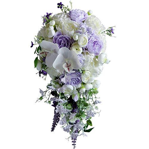GHabby Künstliche Wasser Tropfen Form Blumenstrauß Hochzeit Braut halten Blumen und werfen Blumen Weihnachtsdekorationen und Geschenke für Frau und Freundin
