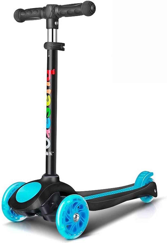 Tienda 2018 LLRDIAN Scooter para Niños Scooter Scooter Scooter de 3 Ruedas para Niños Rueda Ancha de un Solo pie Yo deslice la polea del Cochero Plegable de elevación Ajustable Scooter de Niños (Color   Azul)  100% a estrenar con calidad original.