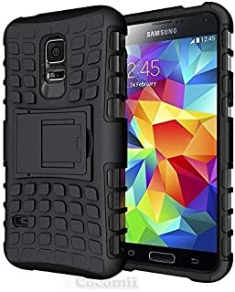 Cocomii Grenade Armor Galaxy S5 Case NEW [Heavy Duty] Premium Tactical Grip Kickstand Shockproof Hard Bumper Shell [Military Defender] Full Body Dual Layer Rugged Cover for Samsung Galaxy S5 (G.Black)