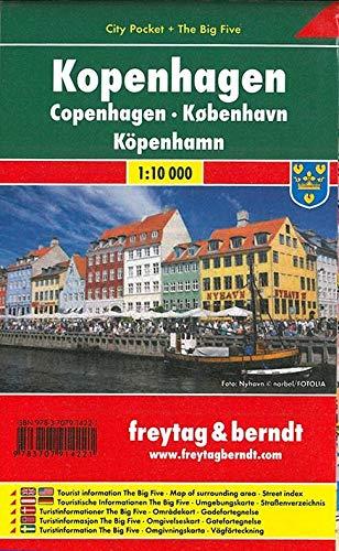 Kopenhagen, City Pocket, Stadtplan 1:10.000 (freytag & berndt Stadtpläne)