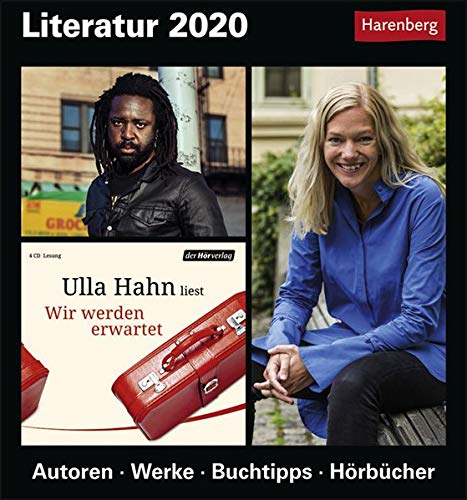Literatur Kulturkalender. Tischkalender 2020. Tageskalendarium. Blockkalender. Format 15,4 x 16,5 cm