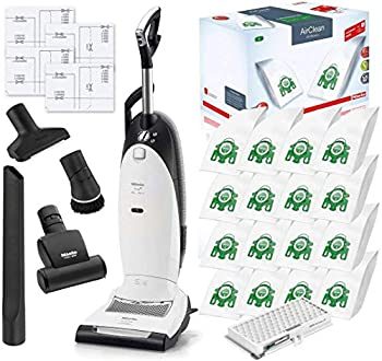 Miele Cat and Dog U1 Dynamic Upright HEPA Vacuum Cleaner with STB101 Turbo Brush Bundle - Includes Miele Performance Pack 16 Type U AirClean Genuine FilterBags + Genuine AH30 HEPA Filter