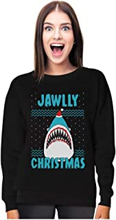 Jawlly Christmas Ugly Christmas Sweater for Xmas Party Shark Women Sweatshirt