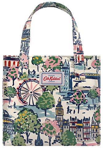 Cath Kidston - Bolsa para libros, diseño de Londres, color crema