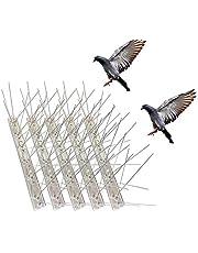 مخارز الطيور لحمامات الطيور الصغيرة القطة، مضادة لمخارز الطيور من الفولاذ المقاوم للصدأ المقاوم للصدأ - غطاء 2.8 متر (10 عبوات)