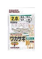 カツイチ(Katsuichi) BW-10K ベーシックワカサギ 秋田キツネ 10本鈎 #2-0.6-0.3