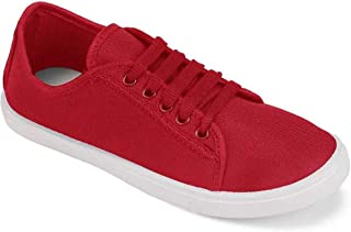Shoefly-5003 Red Exclusive Range of Loafers Sneakers Shoes for Women