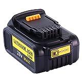 Powayup 20V 5.0Ah Lítio-Ion Reemplazo Batería para DeWalt 18V 20v XR MAX Battery DCB184 DCB200 DCB182 DCB180 DCB183 DCB185 DCB205 Herramienta Eléctrica(Indicador de Carga de Batería LED)
