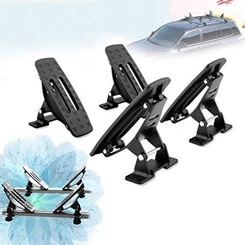 ZhiLianZhao Universal Soporte Forma Coche para Kayaks Baca para Coche Universal con Portaequipajes De Techo Universal para Kayak, Canoa, Barco, Surf, Esquí