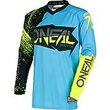 0008-903 - Oneal Element 2018 Burnout Motocross Jersey M Negro Azul Hi-Viz