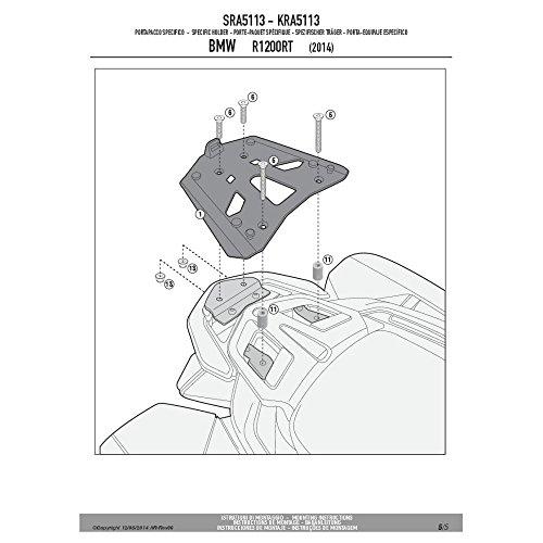 Givi SRA5113 Tirante Monokey Baúl con Aluminio Placa, Carga Máxima 6 Kg