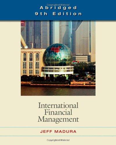 International Financial Management, Abridged Edition (with World Map)