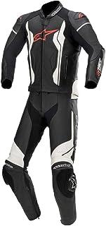 Alpinestars GP Force 2 Teiler Motorrad Lederkombi Schwarz/Weiß 52