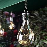 Wasserdichte Solar-Lampe, drehbar, für den Außenbereich, Garten, Camping, hängende LED-Lampe, für Weihnachten, Hochzeit, Geburtstag, Party, Deko Free Size warmweiß