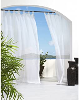 Outdoor décor Escape Water Repellent Sheer Outdoor Curtain, 54 X 96, White