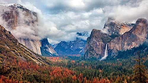 HCYEFG 1000 Teile Landschaftspuzzles DIY Yosemite National Park Landschaft Puzzles Puzzle Kreativität Spielzeug Für Kinder Erwachsene