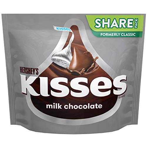 Hershey's Kisses Candy Share Pack, Milk Chocolate, 10.8 OZ