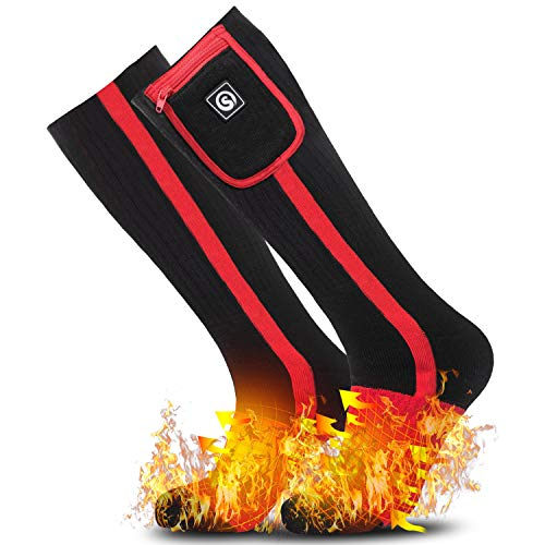 Heated Socks for Women Men,Foot Warmers Electric Rechargable Battery Heating Socks,Winter Cold Feet Hunting Ski Camping Hiking Riding Motorcycle Snowboating Thermal Warm Socks