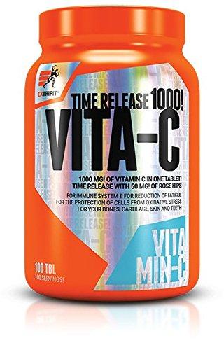 Extrifit Vita-C 1000mg Time Release Confezione da 1 x 100 Compresse - Vitamina C con Estratto di Rosa Canina