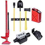 Hobbypark Mini RC Rock Crawler Accessories Decorative Tool Sets Digging Shovel Fuel Tank High Jack Winch for 1:10 Climbing Car